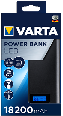 LCD Power Bank 18200